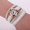 preiswerte Hochzeit Dekorationen-Xu™ Damen Modeuhr / Armband-Uhr / Simulierter Diamant Uhr Imitation Diamant Leder Band Charme Schwarz / Weiß / Blau