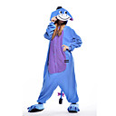 cheap Kigurumi Pajamas-Adults' Donkey Kigurumi Pajamas  Onesie Pajamas Polar Fleece Blue Cosplay For Animal Sleepwear Cartoon Halloween Festival / Holiday / Christmas