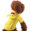 billige Hundeklær-Hund Frakker Hundeklær Gul Rød Blå Terylene Kostume For kjæledyr Herre Dame Cosplay Mote