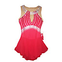 cheap Ice Skating Dresses , Pants & Jackets-Figure Skating Dress Women's / Girls' Ice Skating Dress Red Rhinestone Performance Skating Wear Handmade Classic Sleeveless Ice Skating /
