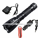 cheap Flashlights & Camping Lanterns-UltraFire LED Flashlights / Torch LED 2200/1000lm 5 Mode with Battery and Chargers Adjustable Focus / Rechargeable / Waterproof Camping /