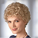 billige Mote Halskjede-Syntetiske parykker Krøllet Blond Syntetisk hår Blond Parykk Dame Kort Lokkløs Blond