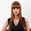 tanie Bez czepka-Peruki bez czepka z naturalnych włosów Włosy naturalne Klasyczny / Kinky Straight Bez czepka Peruka Codzienny / Prosta