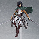 billige Anime actionfigurer-Anime Action Figurer Inspirert av Attack on Titan Mikasa Ackermann PVC 14 cm CM Modell Leker Dukke