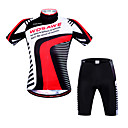 cheap Cycling Pants, Shorts, Tights-WOSAWE Cycling Jersey with Shorts Unisex Short Sleeves Bike Sweatshirt Shorts Sleeves Padded Shorts/Chamois Jersey Tops Quick Dry