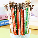 baratos Escrita-Caneta Caneta Canetas Gel Caneta, Plástico Preto cores de tinta For material escolar Material de escritório Pacote de