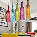 cheap Pendant Lights-E27 5-15㎡ 220V Diffuse Light Clothing Store Coffee Color Restoring Ancient Ways Bottle Droplight  Pendant Lights LED
