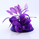 cheap Party Headpieces-Flannelette / Feather / Satin Fascinators with 1 Wedding / Special Occasion / Casual Headpiece