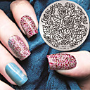 cheap Nail Stamping-1 pcs Stamping Plate Template Stylish / Fashion Nail Art Design Fashionable Design Daily / Metal
