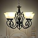 preiswerte Pendelleuchten-5-Licht Pendelleuchten Deckenfluter Lackierte Oberflächen Metall Glas LED, Designer 110-120V / 220-240V Glühbirne nicht inklusive / E26 / E27