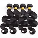 お買い得  人毛つけ毛-4バンドル ブラジリアンヘア ウェーブ 10A バージンヘア 人間の髪編む 8-26 インチ ネイチャーブラック オンブル' 人間の髪織り 無臭 シルキー 人間の髪の拡張機能 女性用