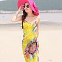 זול מגבות מקלחת-גברות מגבות חוף צעיף שיפון סגנון אופנת קיץ צעיפי שיפון צעיפי צבע אקראי