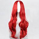 billige Kostymeparykk-Syntetiske parykker Naturlige bølger Syntetisk hår Parykk Lokkløs Rød