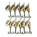 ราคาถูก ถุงมือตกปลา-10 pcs ที่ลวงตาในเบ็ด ที่ลวงตาแบบหมุน Spoons Spinner baits ขนนก Metal Sinking จมได้รวดเร็ว ตกปลาทะเล ปลาน้ำจืด อื่นๆ / เหยื่อตกปลา / การตกปลาทั่วไป