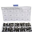 billige Sæt-750pcs 15kindsx50pcs til-92 transistor kit + detail boks (a1015, c945, c1815, s8050, s9012,2n2222 ...)