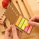 preiswerte Bürobedarf-Kraftpapier Abdeckung bunten Streifen selbstklebe Noten (1 PC)