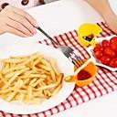 זול כלי אוכל-סלט ברוטב קליפ קטשופ ריבה לטבול כוס קערה במטבח צלחת שולחן (צבע אקראי)