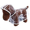 baratos Essenciais de Viagens para Cães-Gato Cachorro Capa de Chuva Roupas para Cães Sólido Branco Roxo Verde Rosa claro Plástico Ocasiões Especiais Para animais de estimação