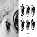 cheap Temporary Tattoos-3D Switch Button Design Temporary Tattoo Sticker Waterproof Fake Tattoo Sticker Men Women Ears Personalized Stereoscopic