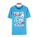 baratos Moletons Estampa de Anime-Inspirado por Tokyo Ghoul Ken Kaneki Anime Fantasias de Cosplay Cosplay T-shirt Estampado Manga Curta Blusa Para Masculino