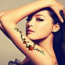 baratos Tatuagens Temporárias-Á Prova d'água Rosto / Mãos / Braço Tatuagens temporárias 1 pcs Arte para o Corpo Diário