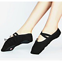 cheap Ballet Shoes-Women's Ballet Shoes Canvas Sneaker Lace-up Customized Heel Customizable Dance Shoes Black / Red / Pink / Practice