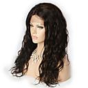billige Blondeparykker med menneskehår-Ekte hår Blonde Forside Parykk Løse bølger Parykk Kort Medium Lengde Lang Blondeparykker med menneskehår