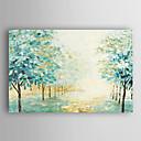 preiswerte Florale/Botansiche Gemälde-Hang-Ölgemälde Handgemalte - Landschaft Modern Segeltuch