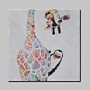 זול ציורי חיות-ציור שמן צבוע-Hang מצויר ביד - חיות מודרני בַּד