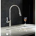 baratos Lustres-Torneira pia do banheiro - Torneira Destacável Níquel Escovado Pia Monocomando e Uma AberturaBath Taps
