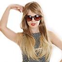 billige Mote Halskjede-Syntetiske parykker Rett Blond Asymmetrisk frisyre Syntetisk hår 22 tommers Naturlig hårlinje Blond Parykk Dame Lang Lokkløs Gylden Brun