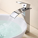 cheap Bathroom Sink Faucets-Bathroom Sink Faucet - Waterfall Chrome Vessel One Hole Single Handle One Hole