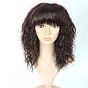 preiswerte Synthetische Perücken-Synthetische Perücken Glatt Synthetische Haare Braun Perücke Damen Kappenlos