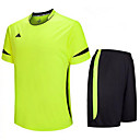 cheap Soccer Jerseys, Shirts & Shorts-Men's Soccer Clothing Suits Quick Dry Breathable Spring Summer Fall Winter Terylene Exercise & Fitness Leisure Sports Football / Soccer