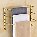 abordables Pelucas Sintéticas-Barra para Toalla Moderno Latón 1 pieza - Baño del hotel Barra de 3 toallas