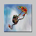 baratos Pinturas Animais-Pintura a Óleo Pintados à mão - Arte Pop Modern Tela de pintura