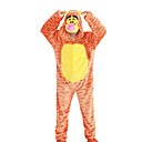 cheap Kigurumi Pajamas-Adults' Tiger Kigurumi Pajamas Onesie Pajamas Polar Fleece Orange Cosplay For Animal Sleepwear Cartoon Halloween Festival / Holiday / Christmas