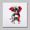 povoljno Slike za cvjetnim/biljnim motivima-Hang oslikana uljanim bojama Ručno oslikana - Životinje Moderna With Frame