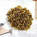 """baratos Bouquets de Noiva-Bouquets de Noiva Buquês Casamento Festa / Noite Cristal Strass Cetim Espuma 11.02""""(Aprox.28cm)"""