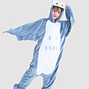 ieftine Office Basics-Pijama Kigurumi Bufniță Pijama Întreagă Costume Flanel Lână Albastru Cosplay Pentru Sleepwear Pentru Animale Desen animat Halloween