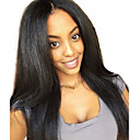 cheap Card Games & Poker-Virgin Human Hair / Human Hair Glueless Full Lace / Full Lace / Lace Front Wig Brazilian Hair Yaki Straight Wig Middle Part / Free Part 150% 10-26 inch Natural Hairline / African American Wig / 100