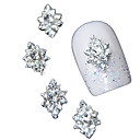 cheap Nail Glitter-10pcs 3d clear rhinestone diamond flower diy accessories alloy nail art decoration