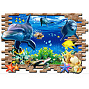 cheap Pillow Covers-Decorative Wall Stickers - 3D Wall Stickers Cartoon Living Room / Bedroom / Bathroom / Removable