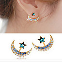 cheap Earrings-Women's Pearl Stud Earrings - Imitation Diamond Star Fashion Black / Blue / Golden For Daily / Casual