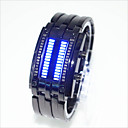 cheap Oil Paintings-Men's Women's Couple's Wrist Watch Digital 30 m Water Resistant / Water Proof Creative LED Alloy Band Digital Fashion Unique Creative Watch Black / Silver - Silver Black / Red Black / Blue One Year