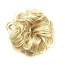 billige Hårstykker-Syntetiske parykker / Chignon-nakkeknuder Krøllet / Klassisk Frisure i lag Syntetisk hår updo Paryk Dame Kort Maskinproduceret Gyldenbrun
