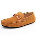 baratos Tênis Masculino-Homens Sapatos de couro Couro / Camurça Primavera / Outono Conforto Mocassins e Slip-Ons Cinzento / Marron / Vinho