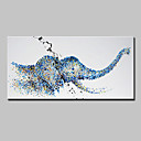 cheap Top Artists' Oil paitings-Oil Painting Hand Painted - Animals Modern Canvas