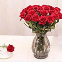 hesapli Suni Çiçek-Yapay Çiçekler 1 şube Modern Stil Güller Masaüstü Çiçeği