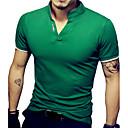 abordables Adhesivos de Pared-Hombre Básico Deportes Tallas Grandes Algodón Camiseta, Escote Chino Delgado Un Color / Manga Corta